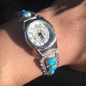 Sterling silver turquoise Native American Watch